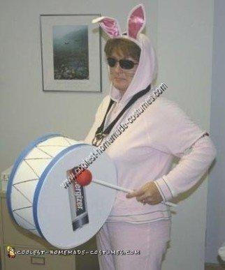 Homemade Energizer Bunny Costume