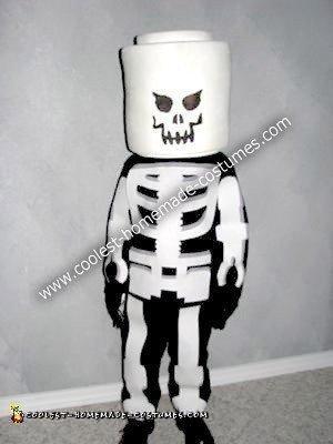 Homemade Evil Glow in the Dark Lego Skeleton Costume