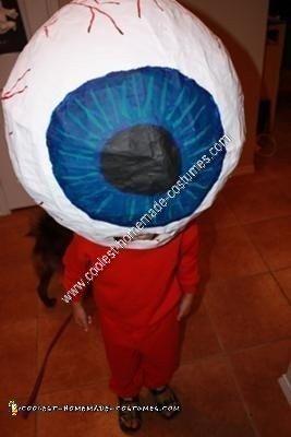Homemade Eyeball Costume