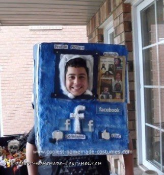 Homemade Face-Book Halloween Costume Idea