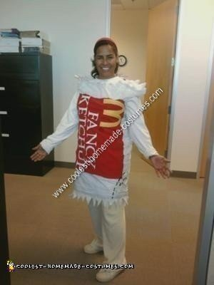 Homemade Fancy Ketchup Packet Costume