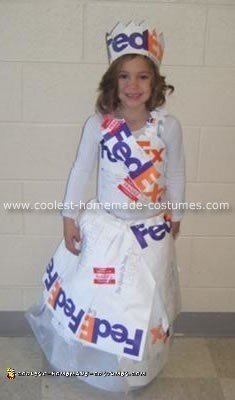 Homemade Fed-Ex Princess Costume