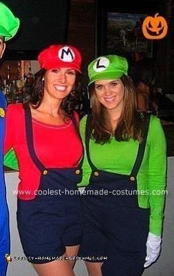 Homemade Female Mario and Luigi Costumes