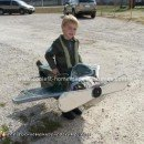 Homemade Fighter Pilot and his Airplane Costume