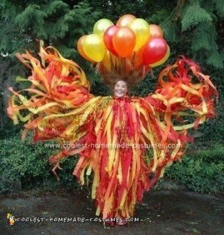 Homemade Fire Costume