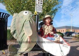 Homemade Fisherman and Fish Costumes