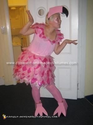 Homemade Flamingo Costume