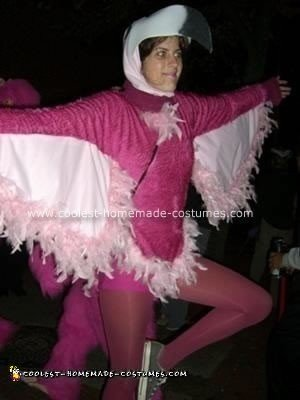 Homemade Flamingo Halloween Costume