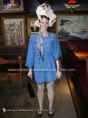Homemade Flight 666 Stewardess Costume