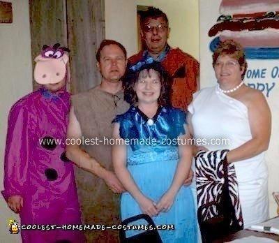 Homemade Flintstones Family Halloween Costume