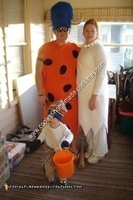 Homemade Flintstones Family Halloween Costume Ideas