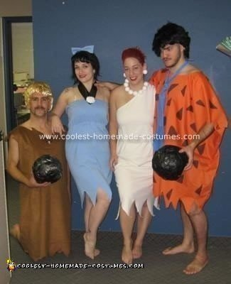 Homemade Flintstones Group Costume