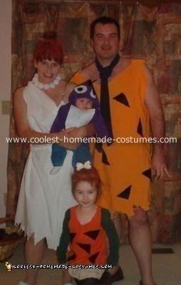 Homemade Flintstones Theme Costumes