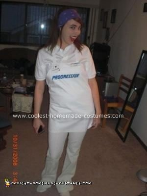Homemade Flo Costume