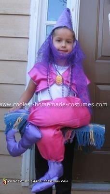 Homemade Flying Genie Halloween Costume
