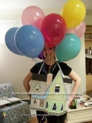 Homemade Flying House Costume from Up