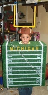 Homemade Football Halloween Costume