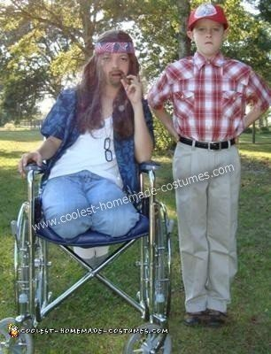 Homemade Forrest Gump and Lt Dan Couple Halloween Costume