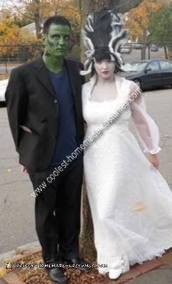 Coolest Homemade Frankenstein And Bride Couple Costume