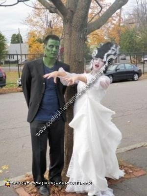Homemade Frankenstein and Bride Costume