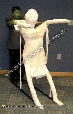 Homemade Frankstein Wants His Mummy Costume