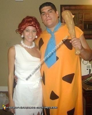 Homemade Fred and Wilma Couple Costume