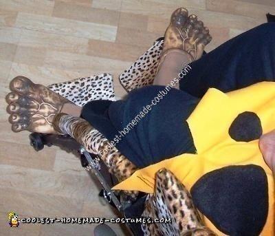 Homemade Fred Flintstone and Flintmobile Wheelchair Costume