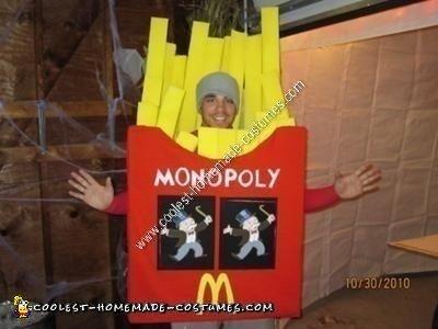 Homemade French Fries Halloween Costume
