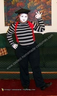 Homemade French Mime Costume