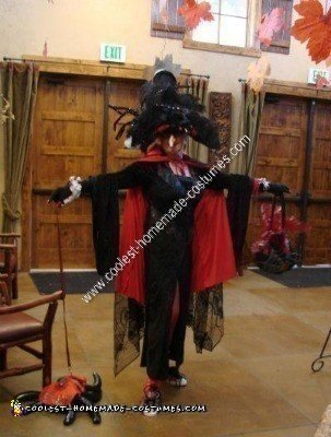 Homemade Funky Spider Woman Witch Costume