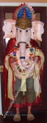 Homemade Ganesh Hindu God Costume