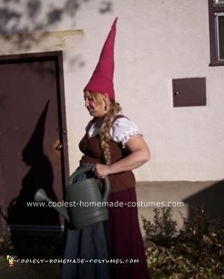 Homemade Garden Gnomess Costume