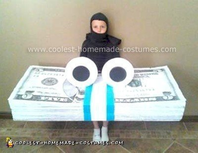 Homemade GEICO Money Stack Costume