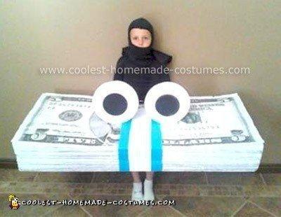 Homemade GEICO Money Stack Costume