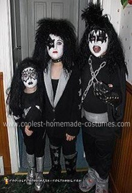 Homemade Gene, Paul and Ace from KISS  Kids Costume