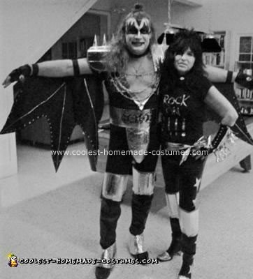 Homemade Gene Simmons and Paul Stanley Couple Costume