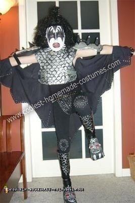 Homemade Gene Simmons Rock God Costume