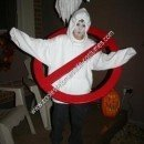 Homemade Ghostbuster Ghost Boy's Halloween Costume Idea