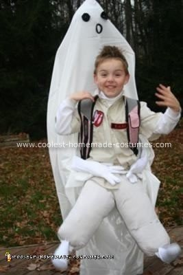 homemade ghostbuster kidnapped by ghost costume