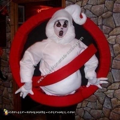 Homemade Ghostbusters Logo Halloween Costume