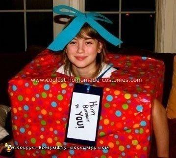 Homemade Gift Box Costume