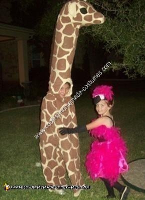 Homemade Giraffe Halloween Costume Idea