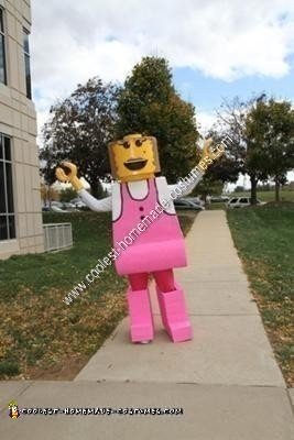 Homemade Girl Lego Minifigure Costume