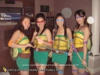 Homemade Girl Ninja Turtles Costume