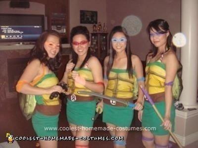 Homemade Girl Ninja Turtles Costume