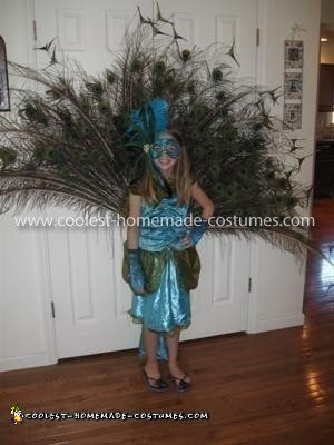 Homemade Girl's Peacock Costume