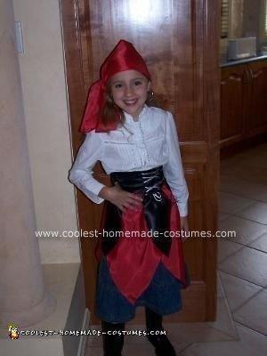 Homemade Girls Pirate Costume