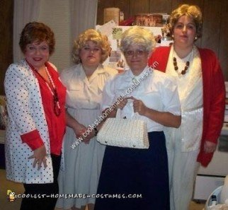 Homemade Golden Girls Group Costume Idea