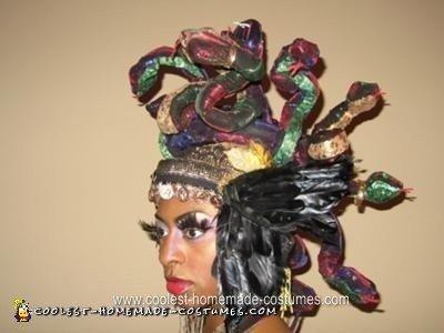 Homemade Golden Medusa Halloween Costume