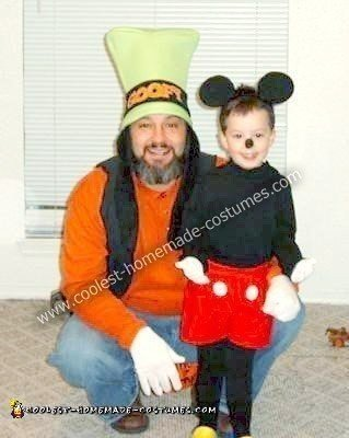 Homemade Goofy and Mickey Mouse Costumes
